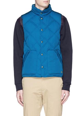 Reversible quilted bodywarmer vest