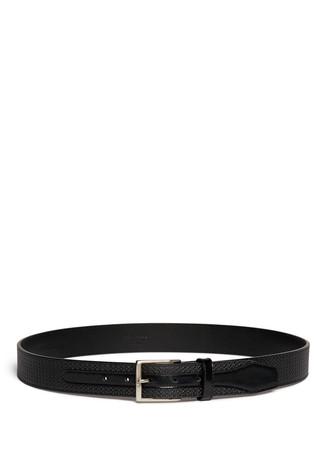 Rhombus emboss leather belt