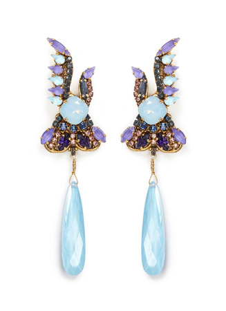 'Ripple Cascade' Swarovski crystal drop earrings