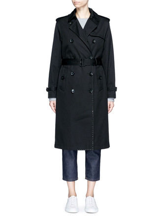 'Rockstud Untitled' cotton trench coat