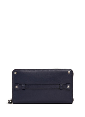 'Rockstud' leather continental wallet