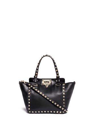 'Rockstud' mini leather tote