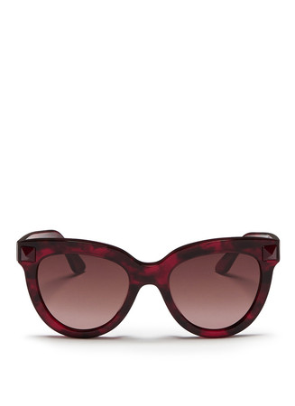 'Rockstud' tortoiseshell effect acetate sunglasses
