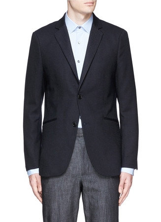 'Rodolf C HL' pinstripe notch lapel blazer