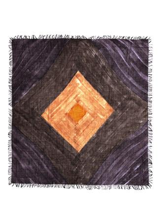 'Rombelli' diamond print cashmere-silk scarf