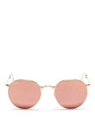 'Round Folding Flash' mirror sunglasses