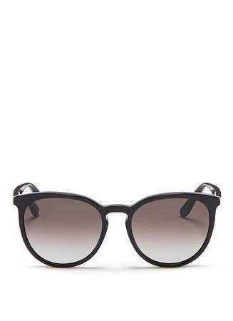 Round frame acetate sunglasses