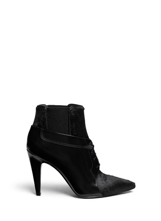'Ryan' calf hair leather ankle boots