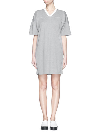 Sandwashed piqué T-shirt dress