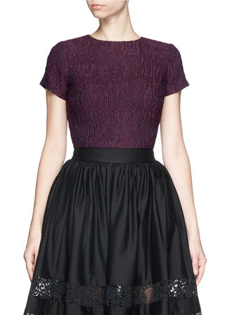 'Sarina' embroidered boxy cropped top