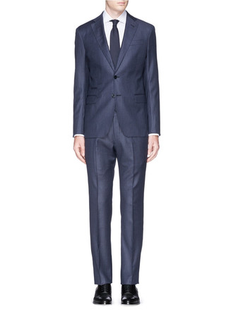 'Sartorial Deco' pinstripe virgin wool suit