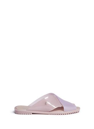 'Sauce' colourblock PVC slide sandals
