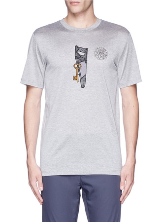 Saw icon embroidery patch T-shirt