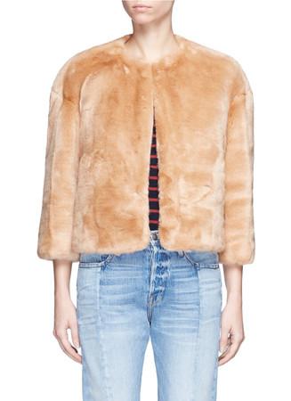 'Sawyer' faux fur cropped jacket