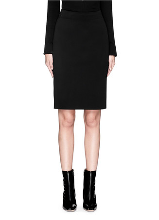 'Scuba' technical neoprene pencil skirt