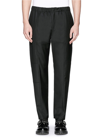 Seam piping zip cuff pants