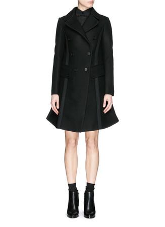 Seam trim military coat