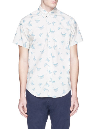 Secret wash short-sleeve shirt in sailfish print