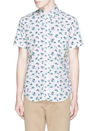 Secret wash short-sleeve shirt in seaport floral