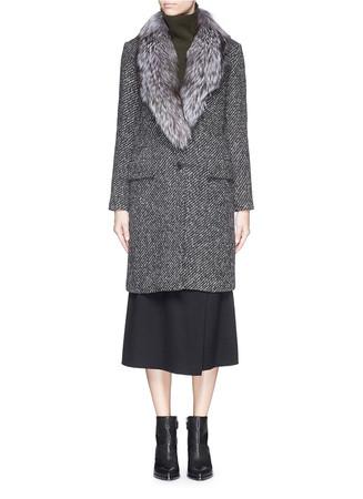 'Sekary FC' fur collar coat