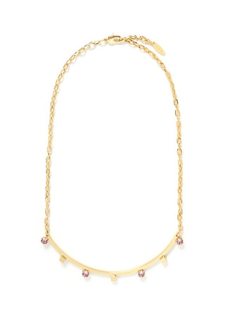 'Shape Shifter' crystal 16k gold plated necklace