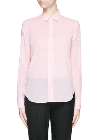 Sheer cotton voile shirt