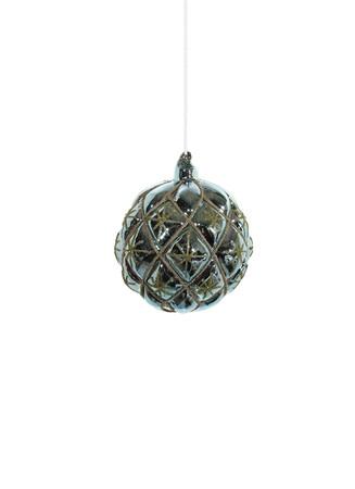 Shiny lattice Christmas ornament