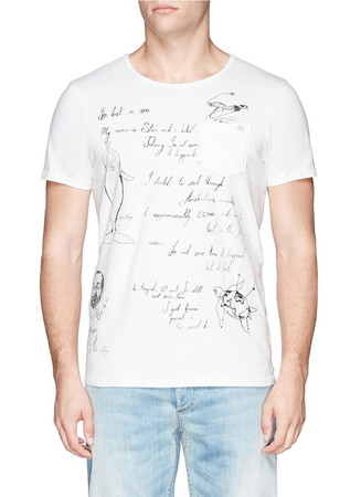 Shipman illustration print T-shirt