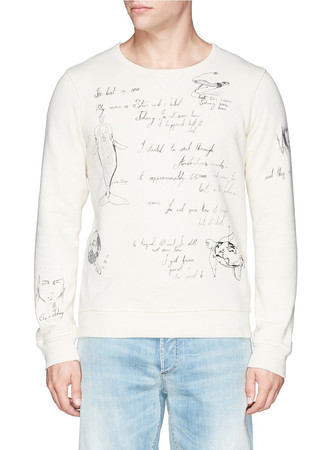 Shipman illustration print sweatshirt