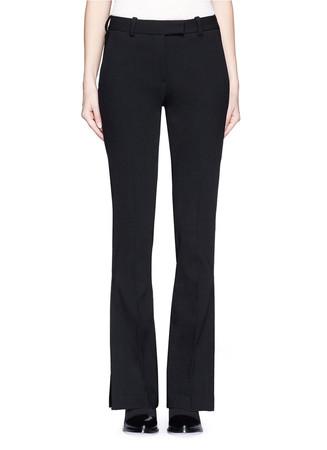 Side slit hopsack flare pants