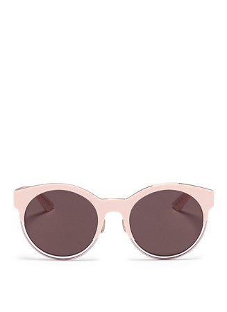 'Sideral 1' metallic rim acetate cat eye sunglasses