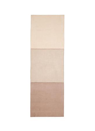 Silk chiffon panel cashmere scarf