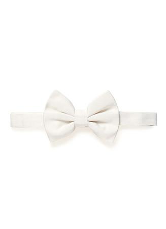 Silk repp bow tie