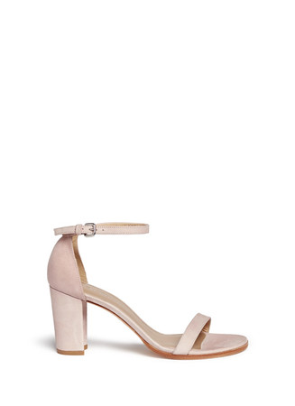 'Simple' ankle strap nubuck leather sandals