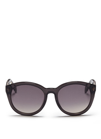 Skull stud acetate sunglasses