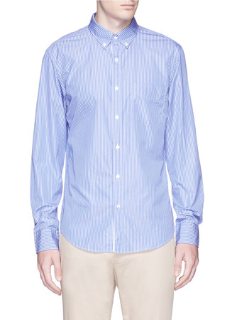 Slim Thomas Mason for J.CREW shirt in fresh pond stripe