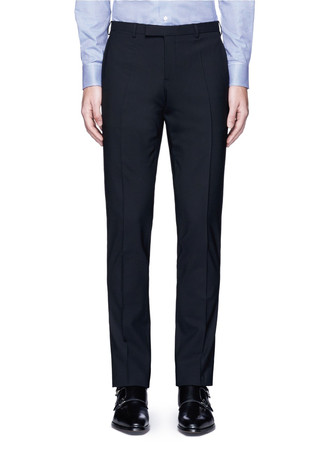 Slim fit wool pants