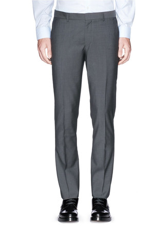 Slim fit wool-mohair pants