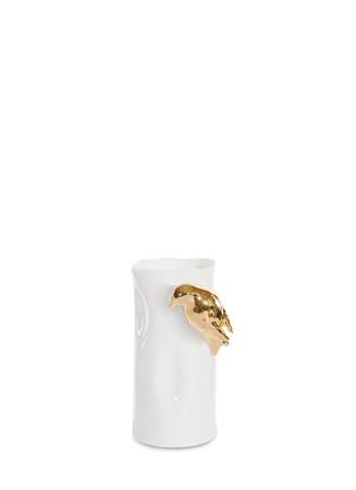 Small metallic bird vase