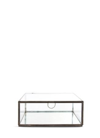 Small mirror base glass box
