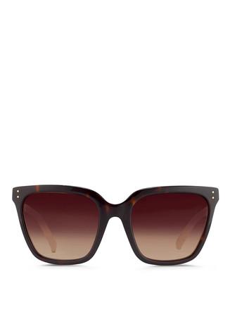 Snakeskin temple oversize D-frame sunglasses