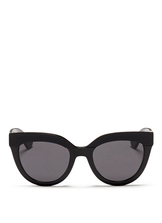'Soft 1' matte brow bar acetate cat eye sunglasses
