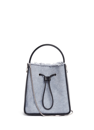 'Soleil' small denim drawstring bucket bag