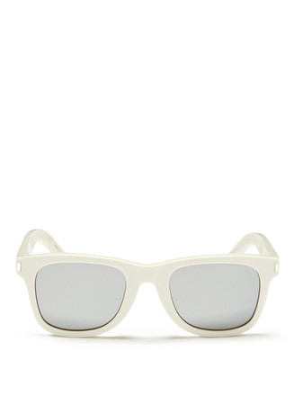 Square frame mirror sunglasses