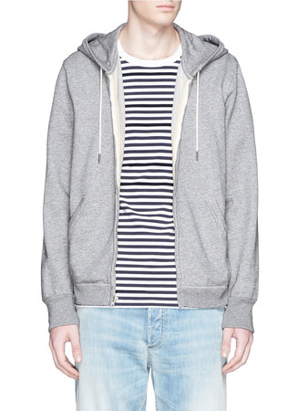 'Standard Issue' cotton French terry zip hoodie