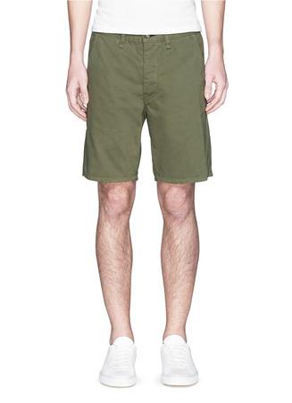'Standard Issue' cotton twill shorts