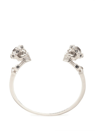 Star dust twin skull cuff