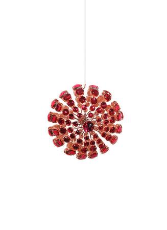 Starburst wire bead Christmas ornament