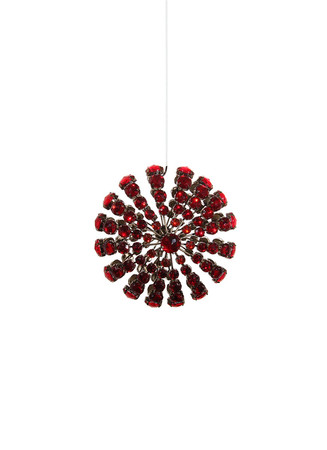 Starburst wire bead Christmas ornament