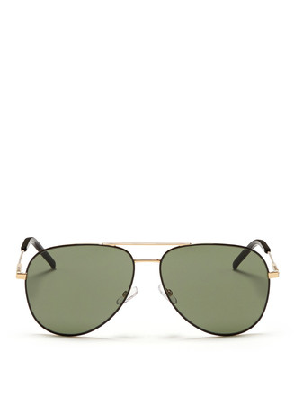 Steel frame aviator sunglasses